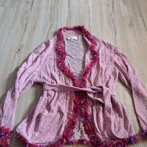 Brenda French Rags Knit Cardigan Women's Sweater T